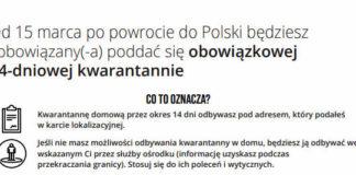 Od 15 marca po powrocie do Polski będziesz zobowiązany(-a) poddać się obowiązkowej 14-dniowej kwarantannie