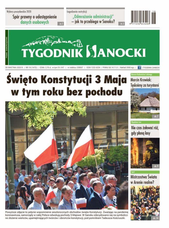 Święto Konstytucji 3 Maja w tym roku bez pochodu. Nowy numer Tygodnika, wyjątkowo jutro, czyli w czwartek w sprzedaży