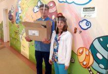 Na Oddział Dziecięcy Sanockiego Szpitala przekazano 50 sztuk przyłbic - akcja Hipokrates 2020