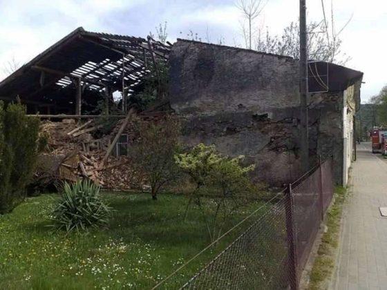 Zawaliła się ściana budynku w Baligrodzie. Wspomnijmy to miejsce z 1940 roku