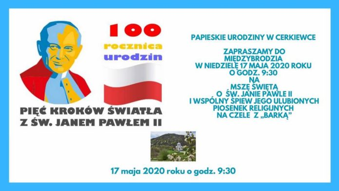 Msza o św. Janie Pawle II i koncert