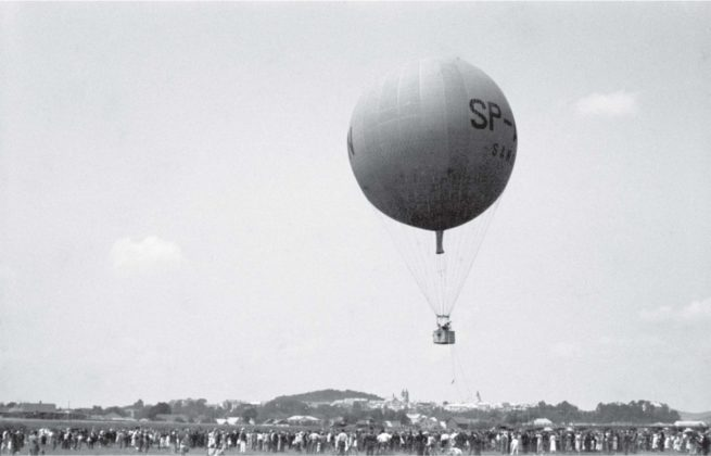 """Lot balonu """"Sanok""""Autor: Stanisław Potocki Czas wykonania: czerwiec 1937 r"""