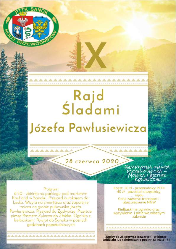 IX Rajd Śladami Józefa Pawłusiewicza