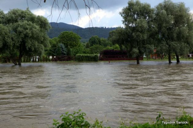 Alarm przeciwpowodziowy na terenie miast i gmin powiatu sanockiego