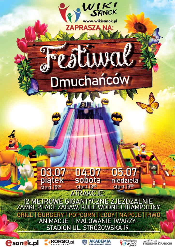 """WIKI Sanok zaprasza na """"Festiwal dmuchańców"""""""