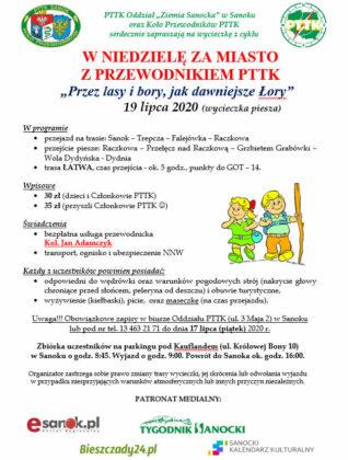 """""""Przez lasy i bory, jak dawniejsze Łory"""" - wycieczka PTTK"""