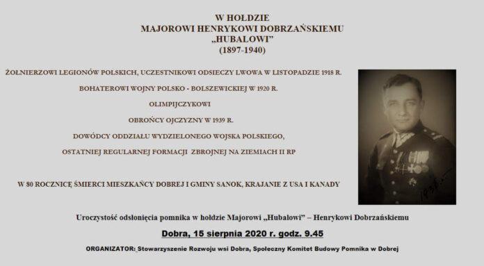 """Odsłonięcie pomnika w hołdzie Majorowi """"Hubalowi"""" – Henrykowi Dobrzańskiemu"""