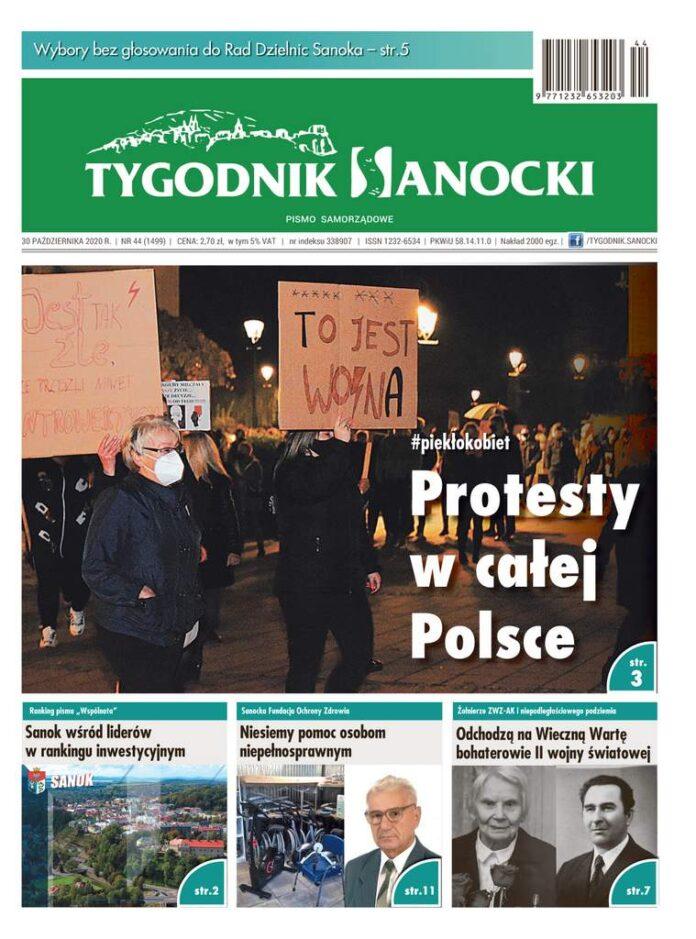 Protesty w całej Polsce - czyli co nowego w najnowszym Tygodniku Sanockim