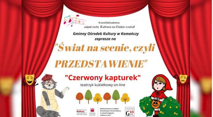 Gminny Ośrodek Kultury w Komańczy przedstawia teatrzyk kukiełkowy pt.