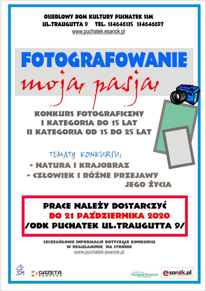 """""""Fotografowanie – moją pasją"""" KONKURS"""