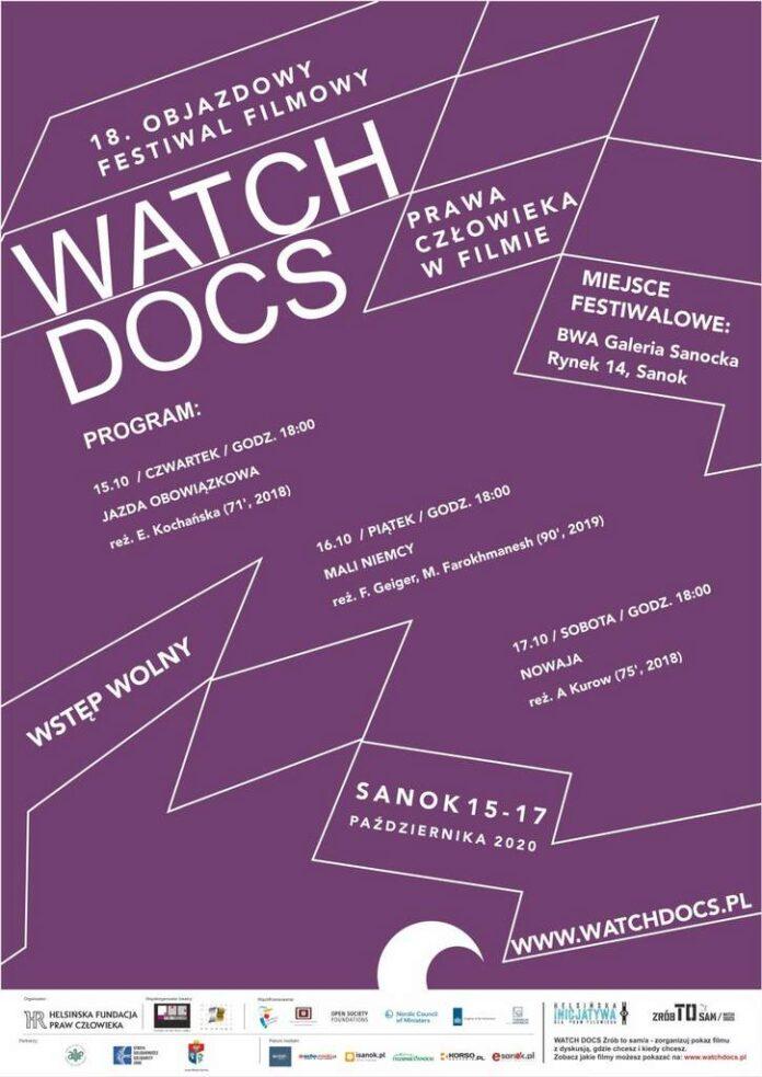 BWA Galeria Sanocka zaprasza na 18 edycję objazdowego Festiwalu WATCH DOCS