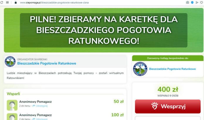 Zostań wirtualnym ratownikiem - zbiórka na karetkę dla Bieszczadzkiego Pogotowia Ratunkowego