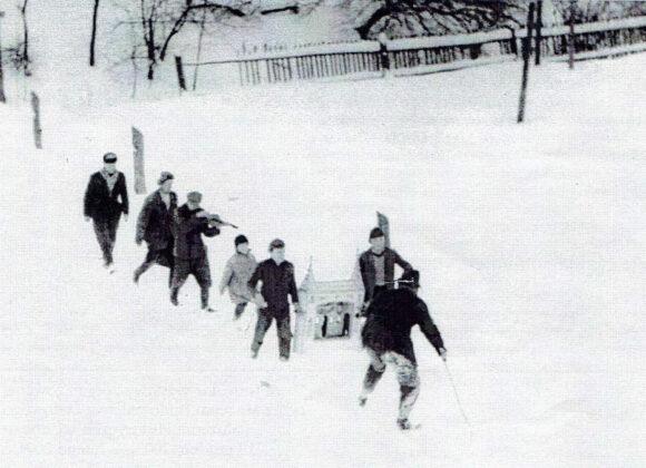 Kolędnicy z Brzeżawy, 1963 r. fot. A Miller