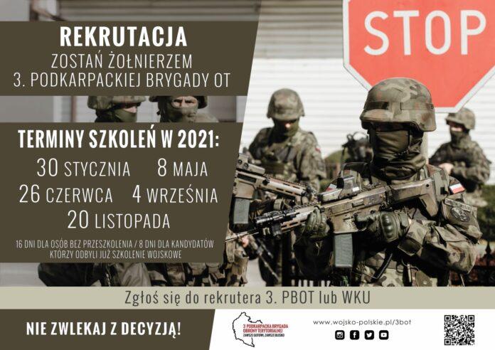 Rekruterzy 3.Podkarpackiej Brygady OT rozpoczęli działanie w 2021 roku