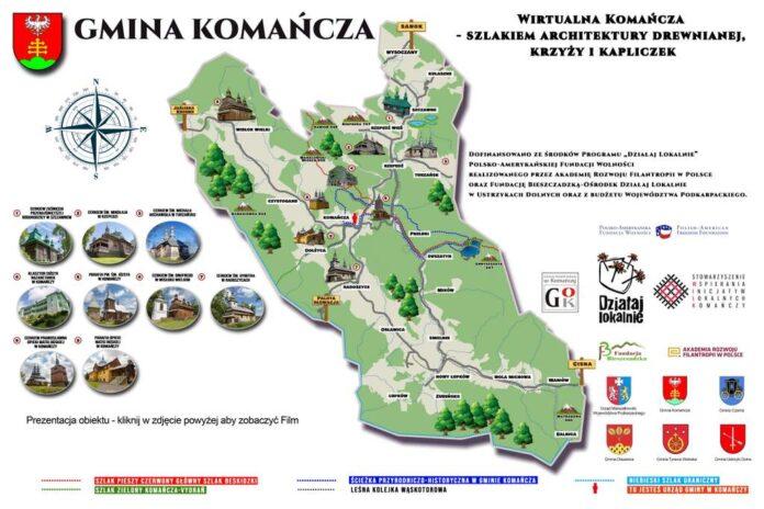 WIRTUALNA KOMAŃCZA- szlakiem architektury drewnianej, krzyży i kapliczek