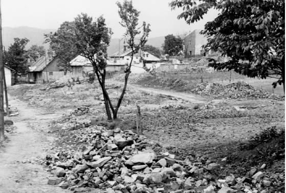 Fragment zburzonej dzielnicy żydowskiej