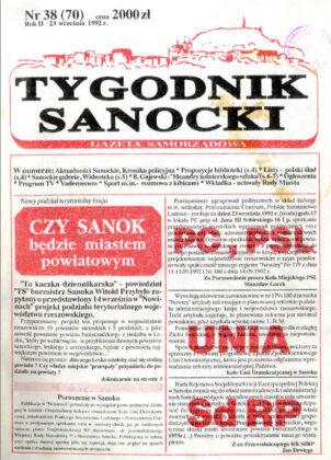 Historia Tygodnika Sanockiego