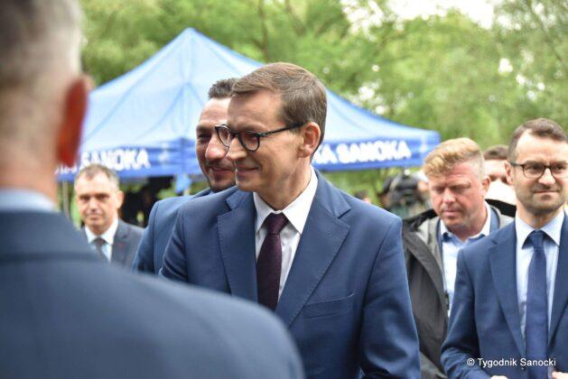 Premier Mateusz Morawiecki z wizytą w Sanoku