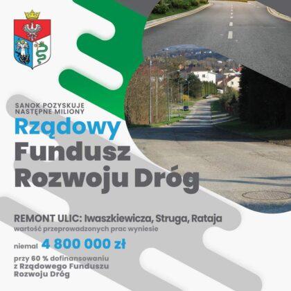 Przebudowa ul. Iwaszkiewicza, Struga i Rataja na Dąbrówce